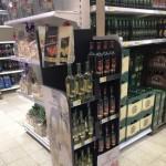 BOHEMIA SEKT –  wooden floor displays in TESCO CZ